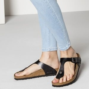 Birkenstock Gizeh Sandals Leather Slip On Thong